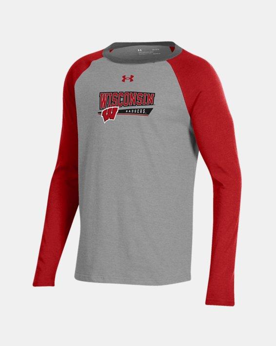 Boys' UA Tri-Color Performance Cotton Baseball Collegiate T-Shirt, Red, pdpMainDesktop image number 0