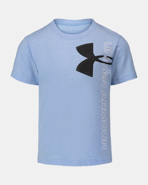 Boys' Pre-School UA Split Logo Short Sleeve, Blue, pdpMainDesktop image number 0