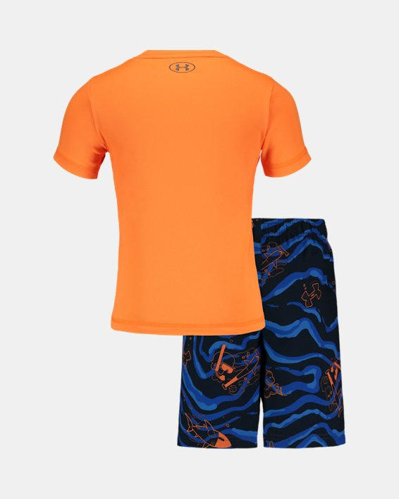 Boys' Pre-School UA Sport Fish Volley Set, Orange, pdpMainDesktop image number 1