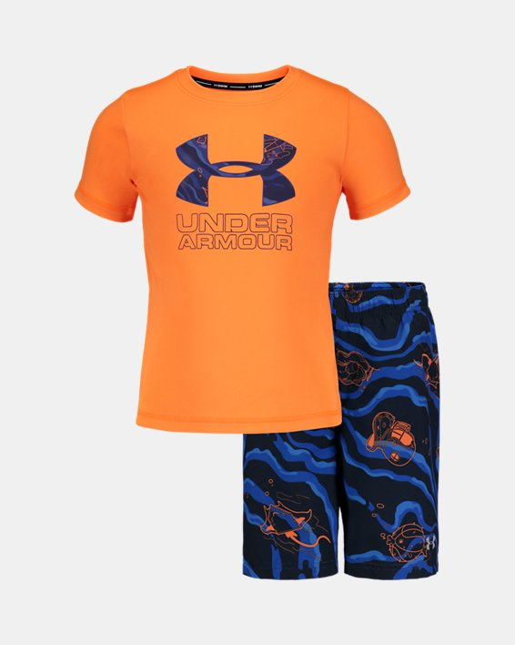 Boys' Pre-School UA Sport Fish Volley Set, Orange, pdpMainDesktop image number 0