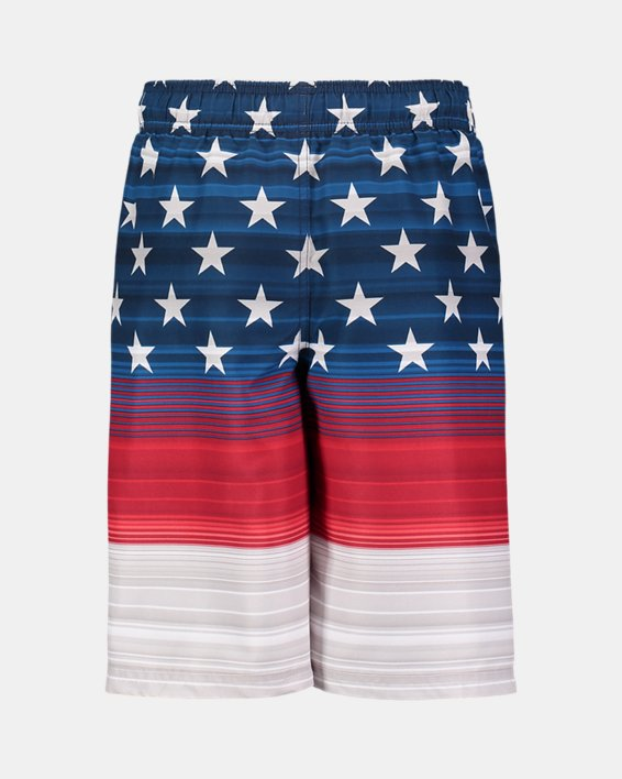 Boys' UA Freedom Striped Volley Shorts, Red, pdpMainDesktop image number 1