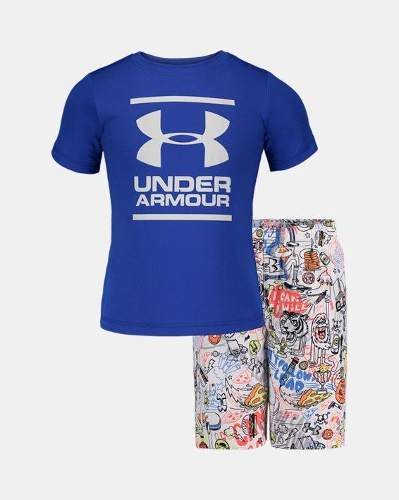 Boys' Toddler UA Future Show Volley Set, Blue, pdpMainDesktop image number 0