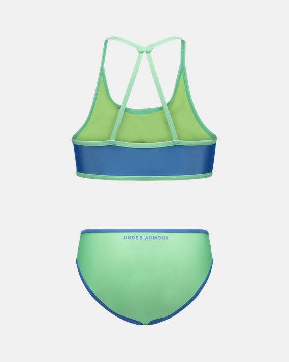 Girls' Pre-School UA Duo Color Bikini Swimsuit, Blue, pdpMainDesktop image number 1