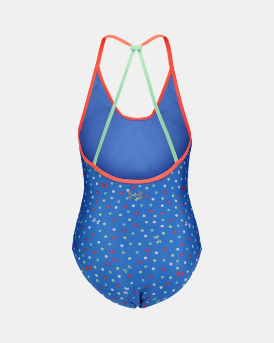 Girls' Pre-School UA Dot 1-Piece Swimsuit, Blue, pdpMainDesktop image number 1