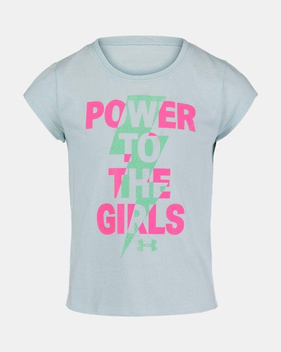 Girls' Pre-School UA Power To The Girls Short Sleeve, Blue, pdpMainDesktop image number 0