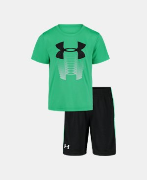Boys Kids Youth Under Armour T-Shirt NEW Yellow short sleeve Size 4T
