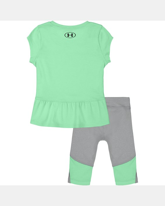 Girls' Infant UA Logo Heart Set, Green, pdpMainDesktop image number 1