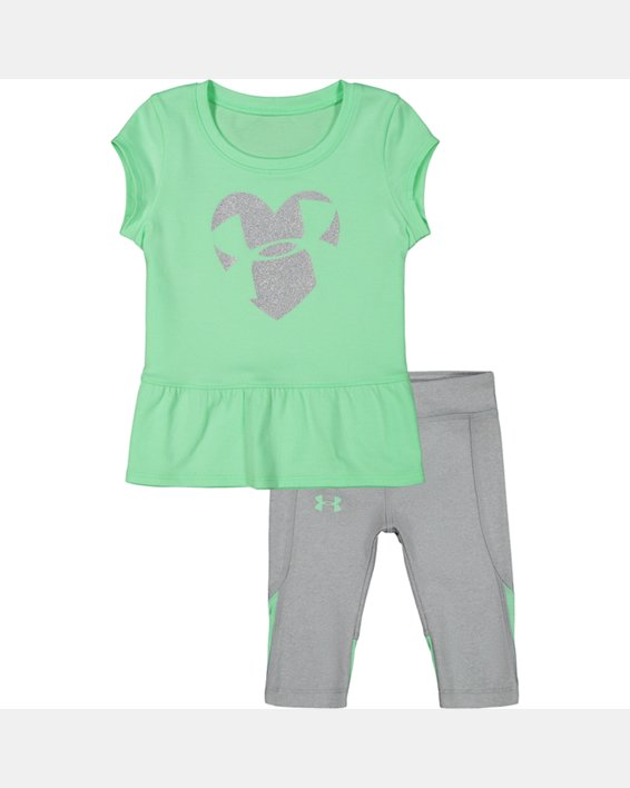 Girls' Infant UA Logo Heart Set, Green, pdpMainDesktop image number 0