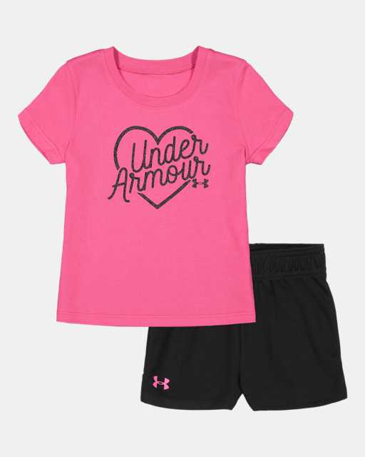 Girls' Infant UA Outline Big Logo Set Short Sleeve