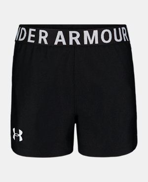 Under Armour Toddler Girls Play up Short,BLACK,4T