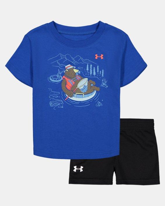 Boys' Infant UA Bear Tube Set, Blue, pdpMainDesktop image number 0