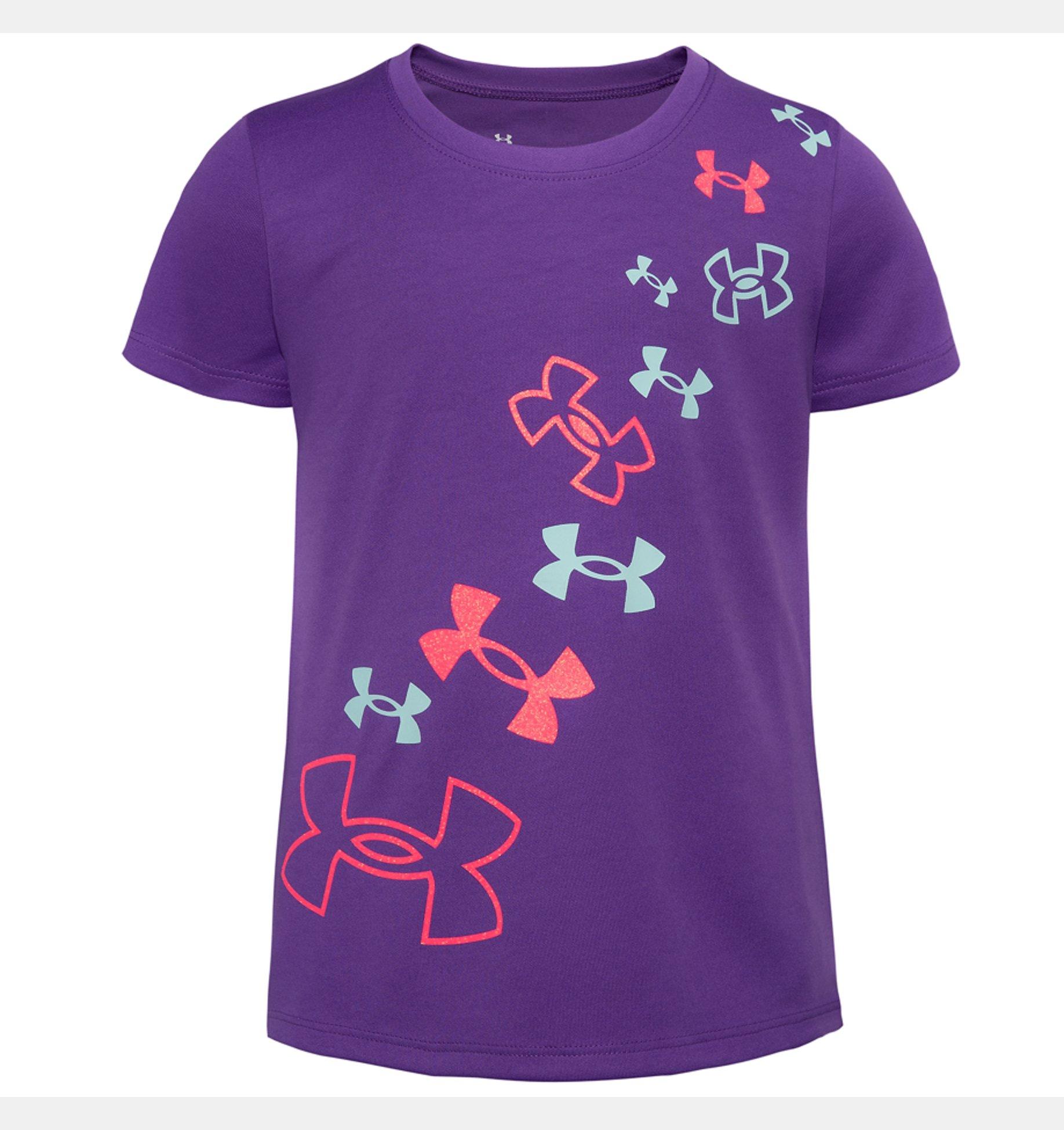 Underarmour Girls Toddler UA Tulip Logo Short Sleeve