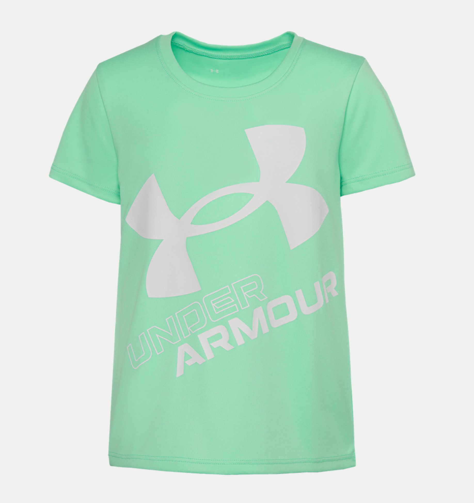 Underarmour Girls Toddler UA Jumbo Logo Short Sleeve