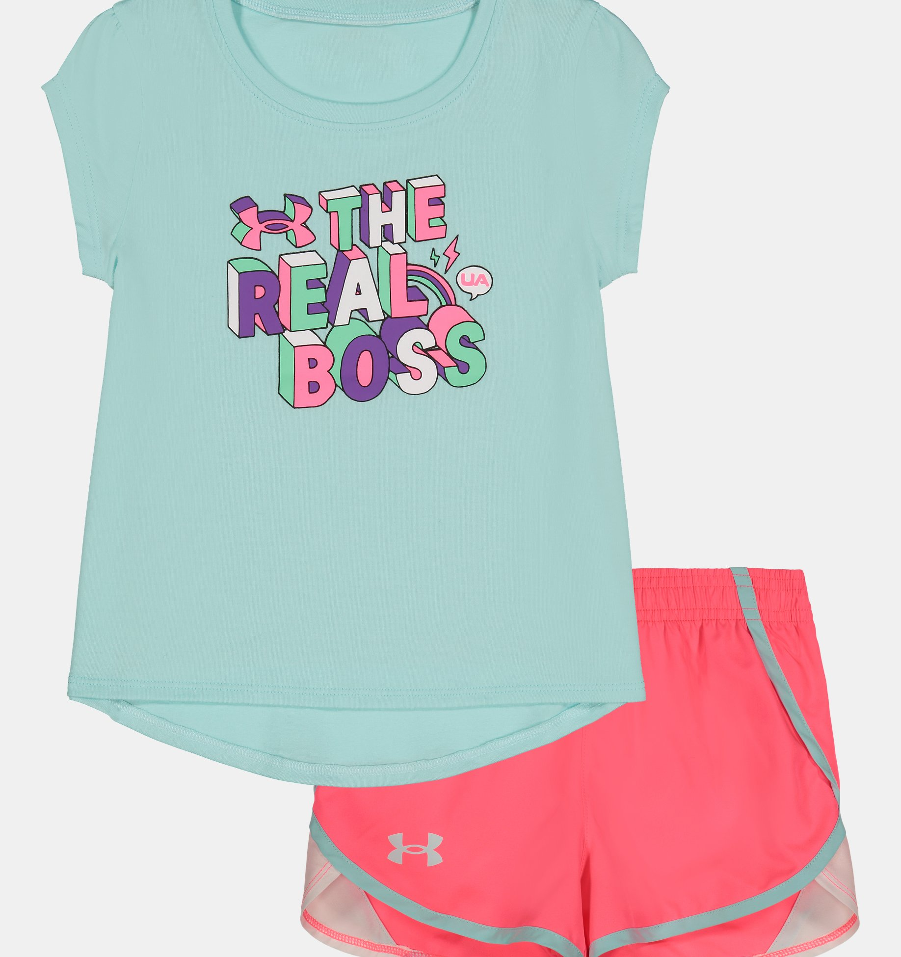 Underarmour Girls Infant UA The Real Boss Set