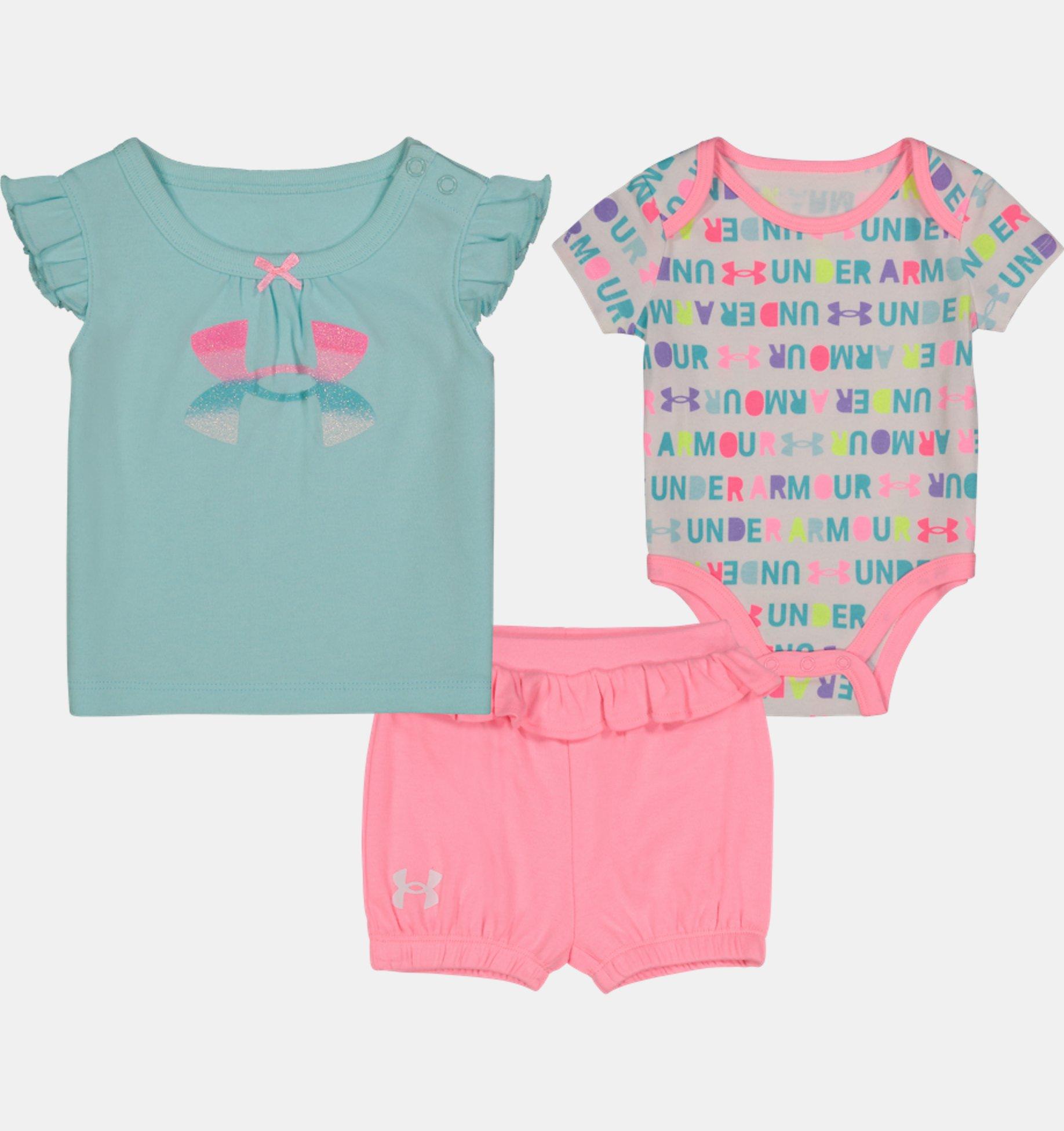 Underarmour Girls Infant UA Wordmark 3-Piece Set