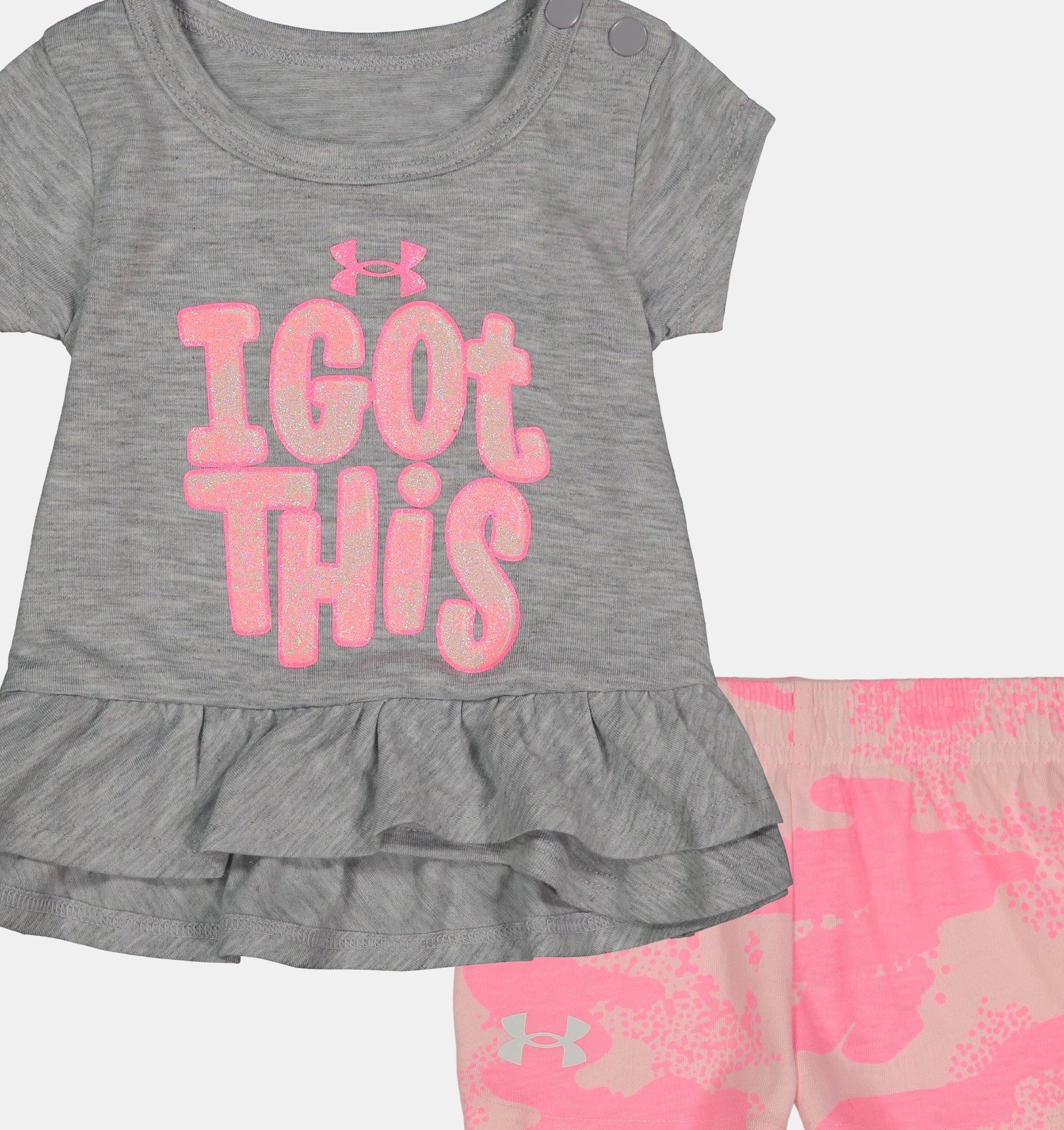 Underarmour Girls Infant UA I Got This 2-Piece Set