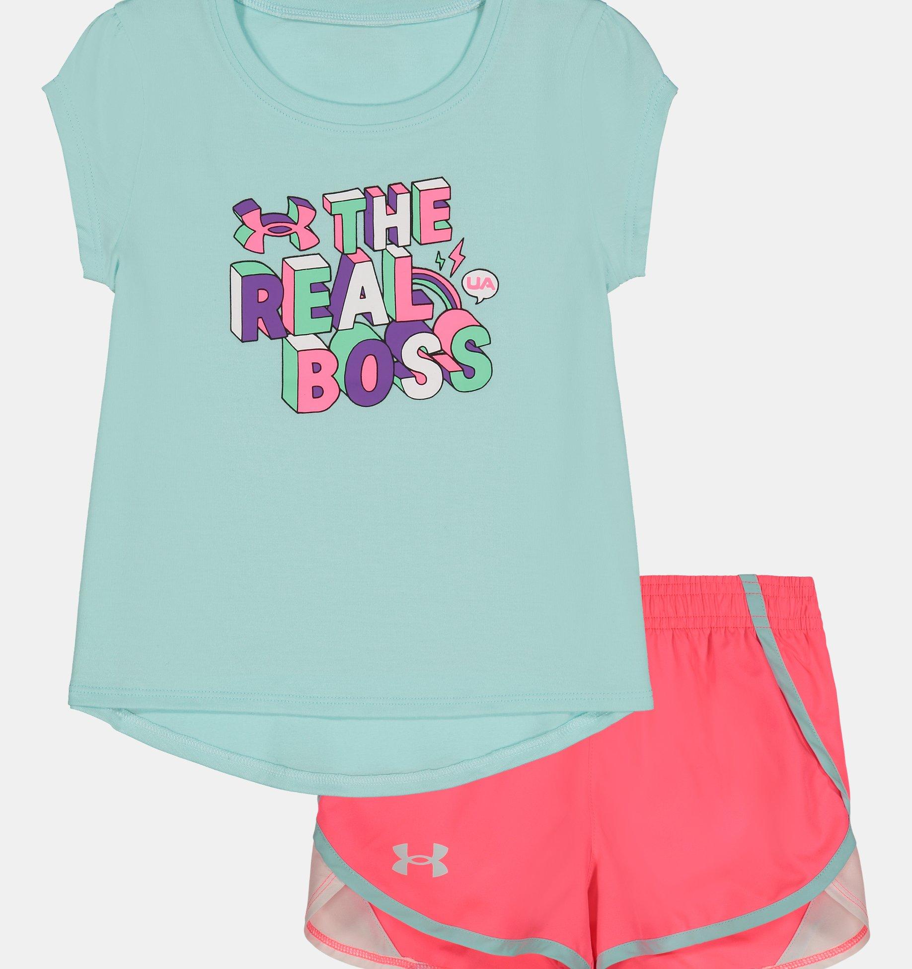 Underarmour Girls Toddler UA The Real Boss Set