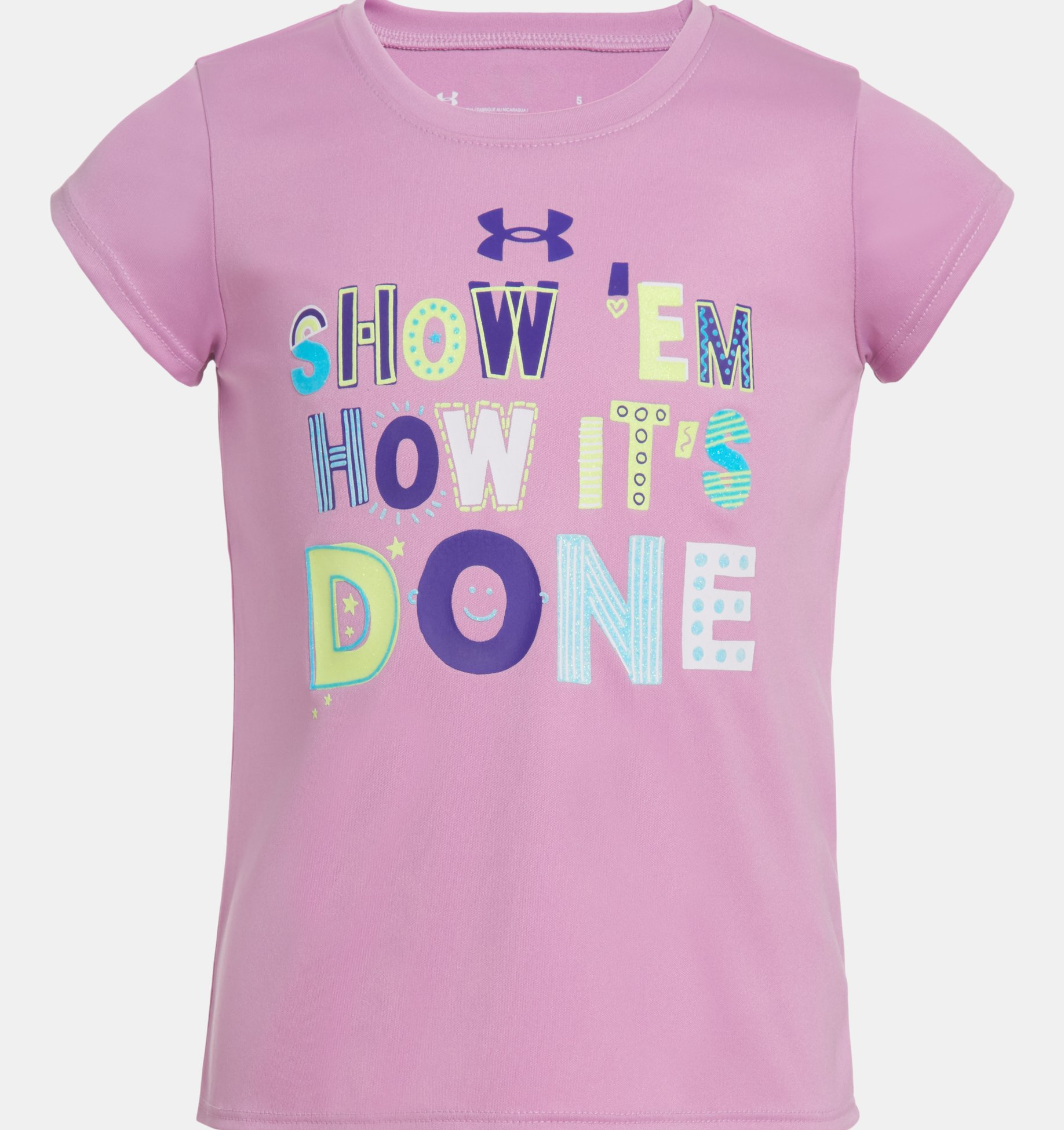 Underarmour Girls Toddler UA Show Em How Its Done Short Sleeve
