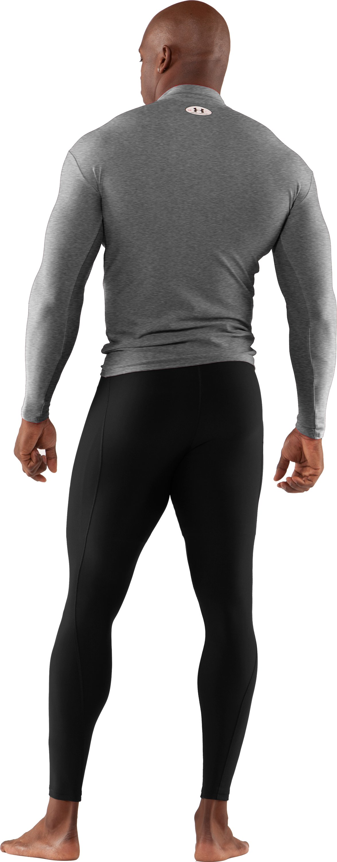 Men's ColdGear® Action Leggings, Black , Back