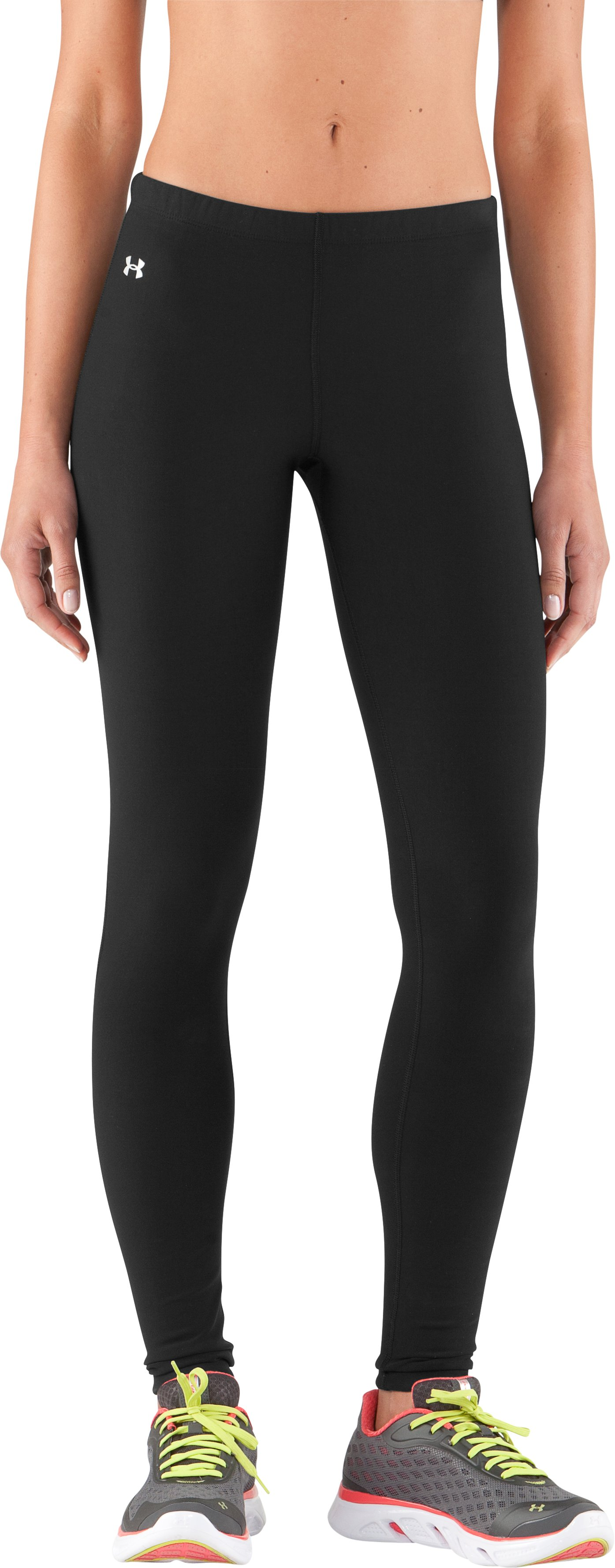 Women's ColdGear® Frosty Compression Tights, Black , zoomed image