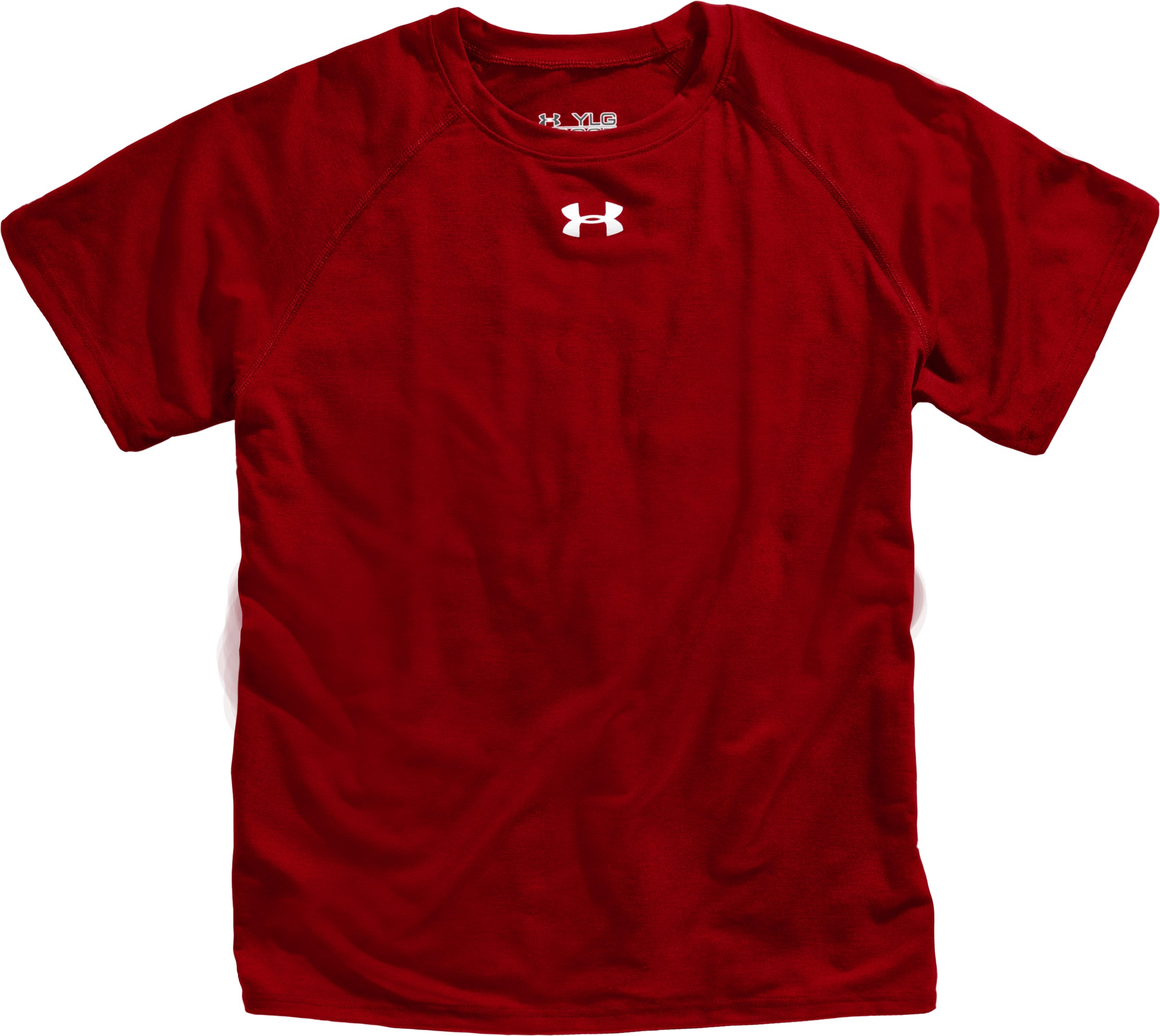 Boys' Team UA Tech™ Short Sleeve T-Shirt, Red, Laydown