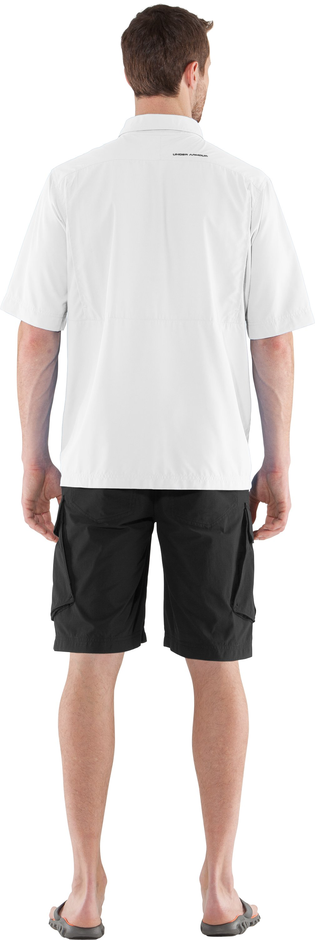 Men's Flats Guide Short Sleeve Shirt, White, Back