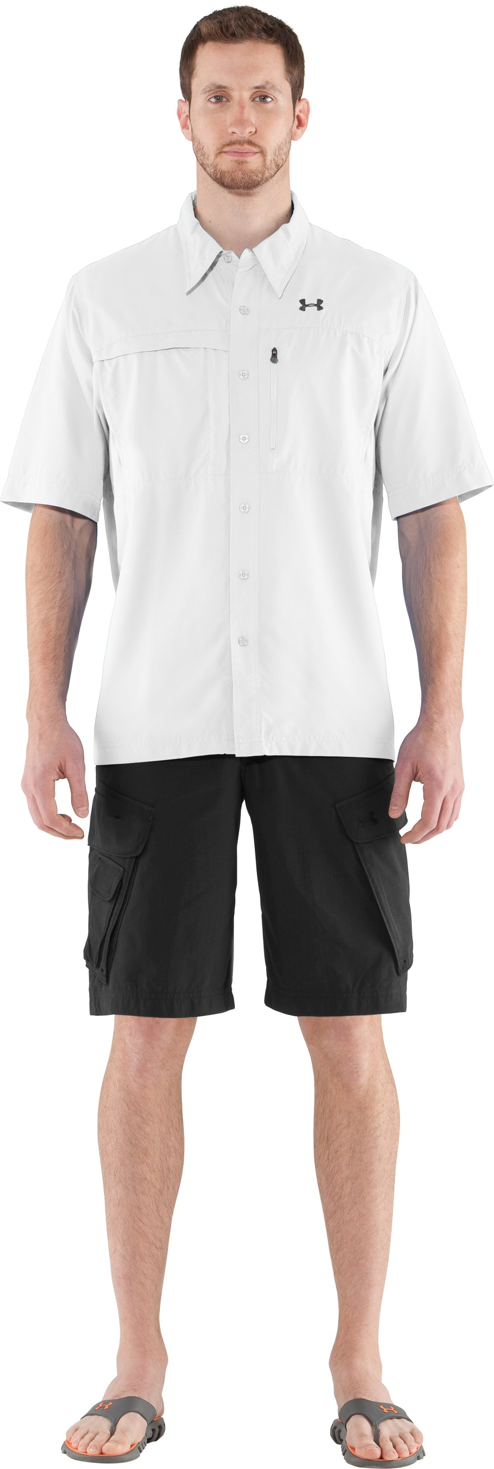 Men's Flats Guide Short Sleeve Shirt, White, Front