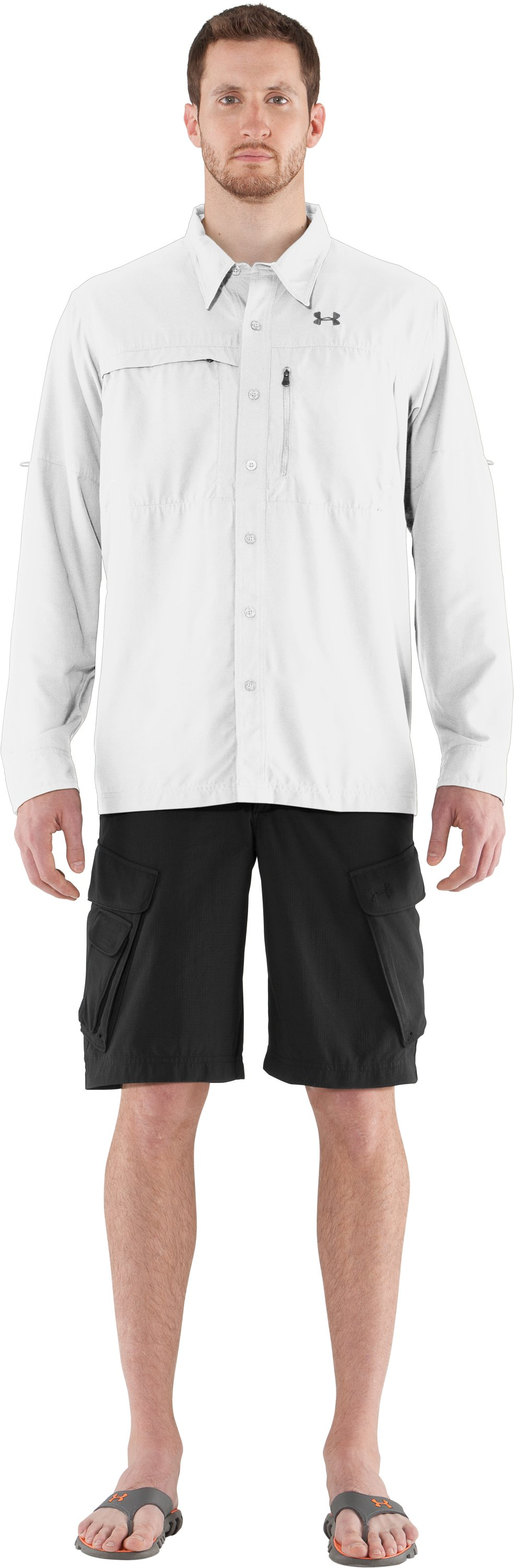 Men's Flats Guide Long Sleeve Shirt, White, Front