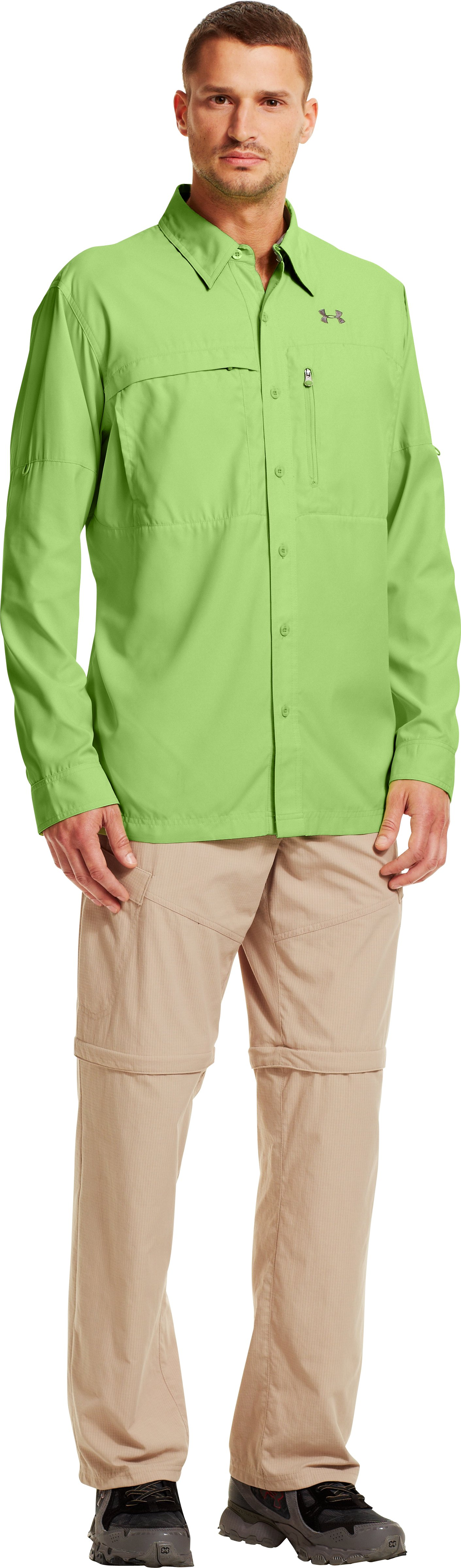 Men's Flats Guide Long Sleeve Shirt, Celery, zoomed image