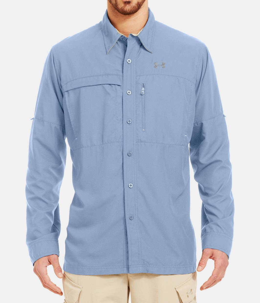 Men s flats guide long sleeve shirt under armour us for Under armour fishing shirts clearance