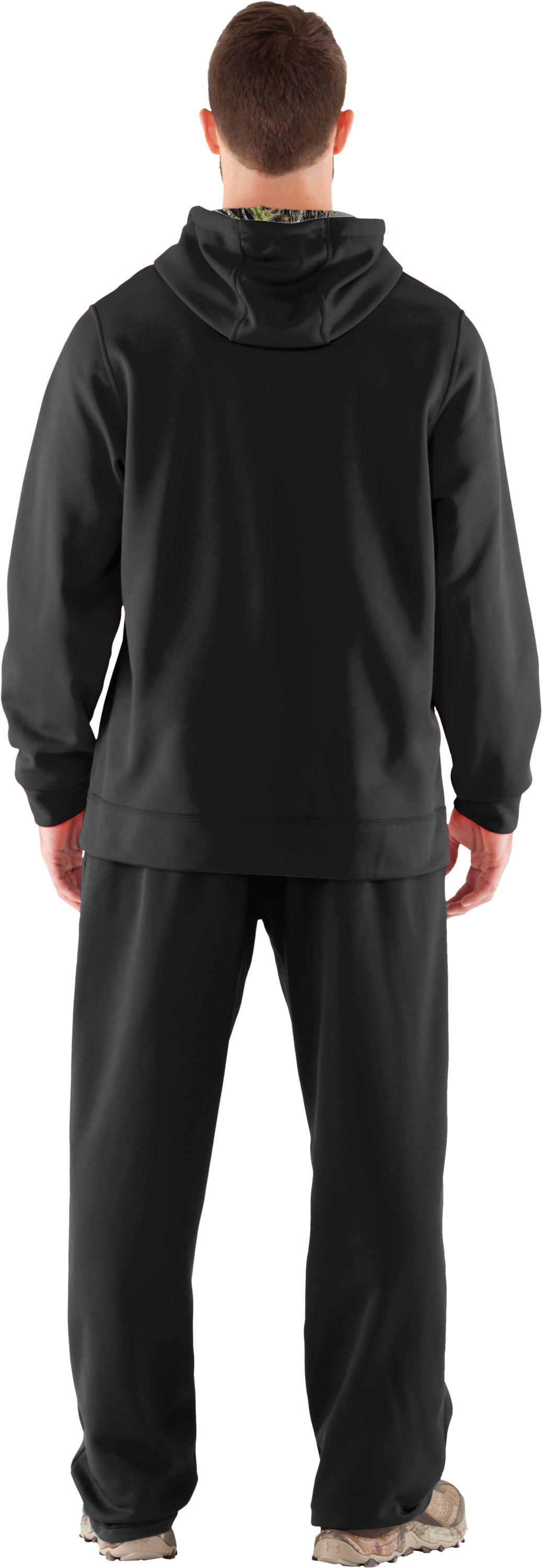 Men's UA Storm Armour® Fleece Tackle Twill Hoodie, Black , Back