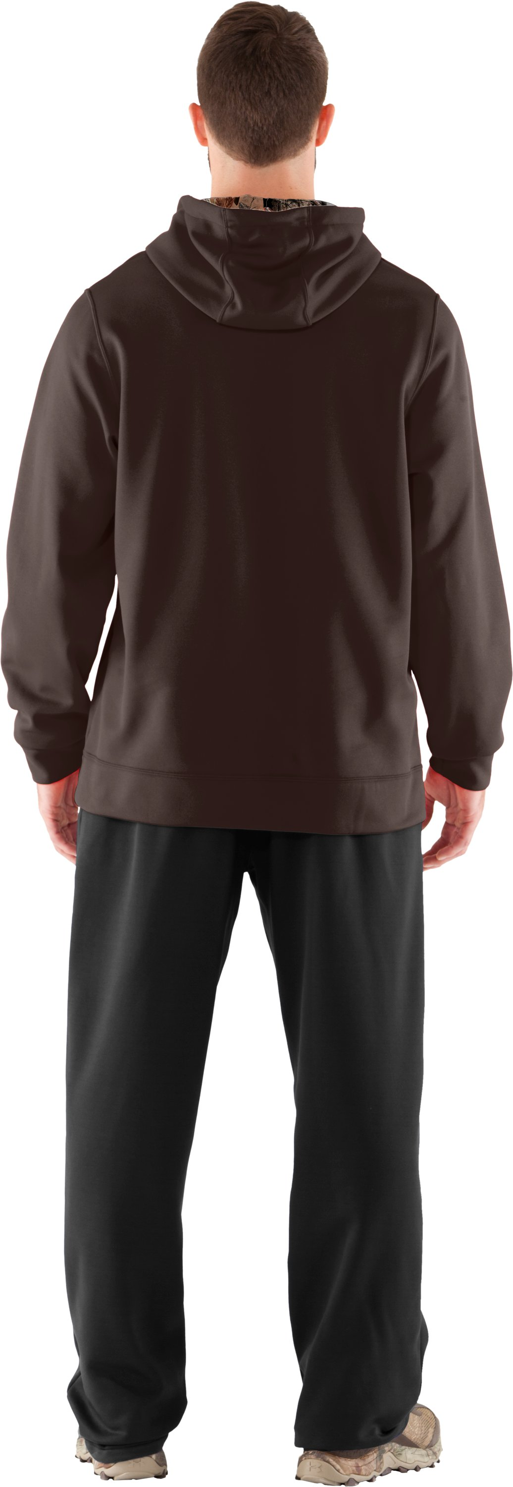 Men's UA Storm Armour® Fleece Tackle Twill Hoodie, Timber, Back