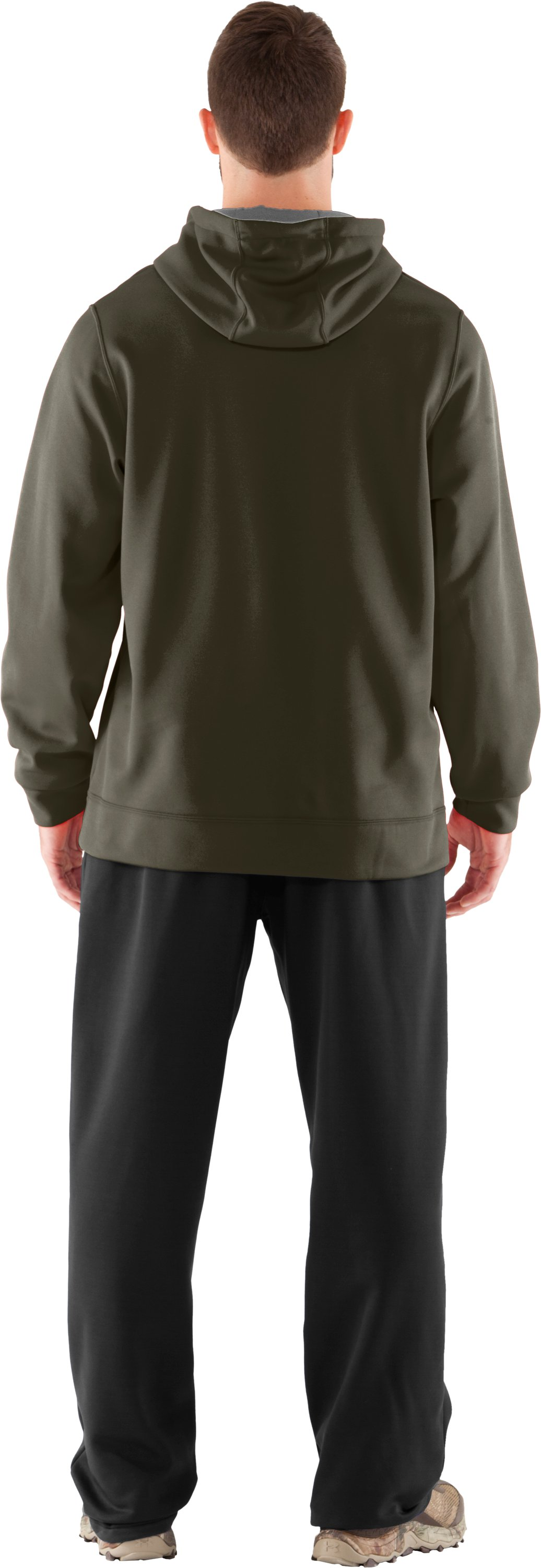 Men's UA Storm Armour® Fleece Tackle Twill Hoodie, Sage, Back
