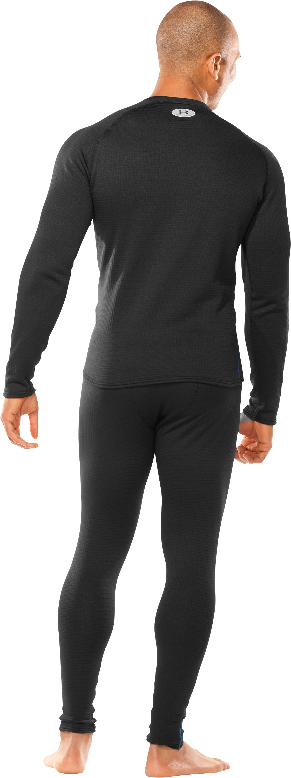 Men's ColdGear® UA Base™ 3.0 Long Sleeve Crew, Black , Back