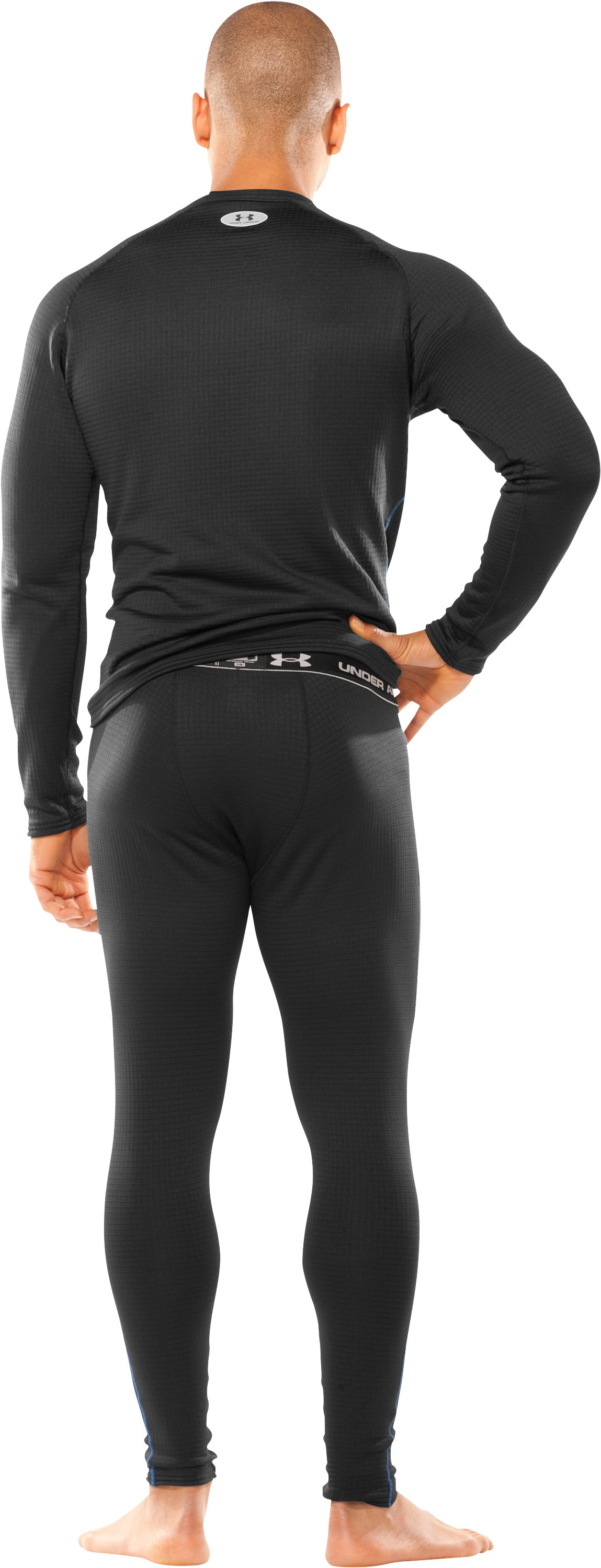 Men's ColdGear® UA Base™ 3.0 Leggings, Black , Back