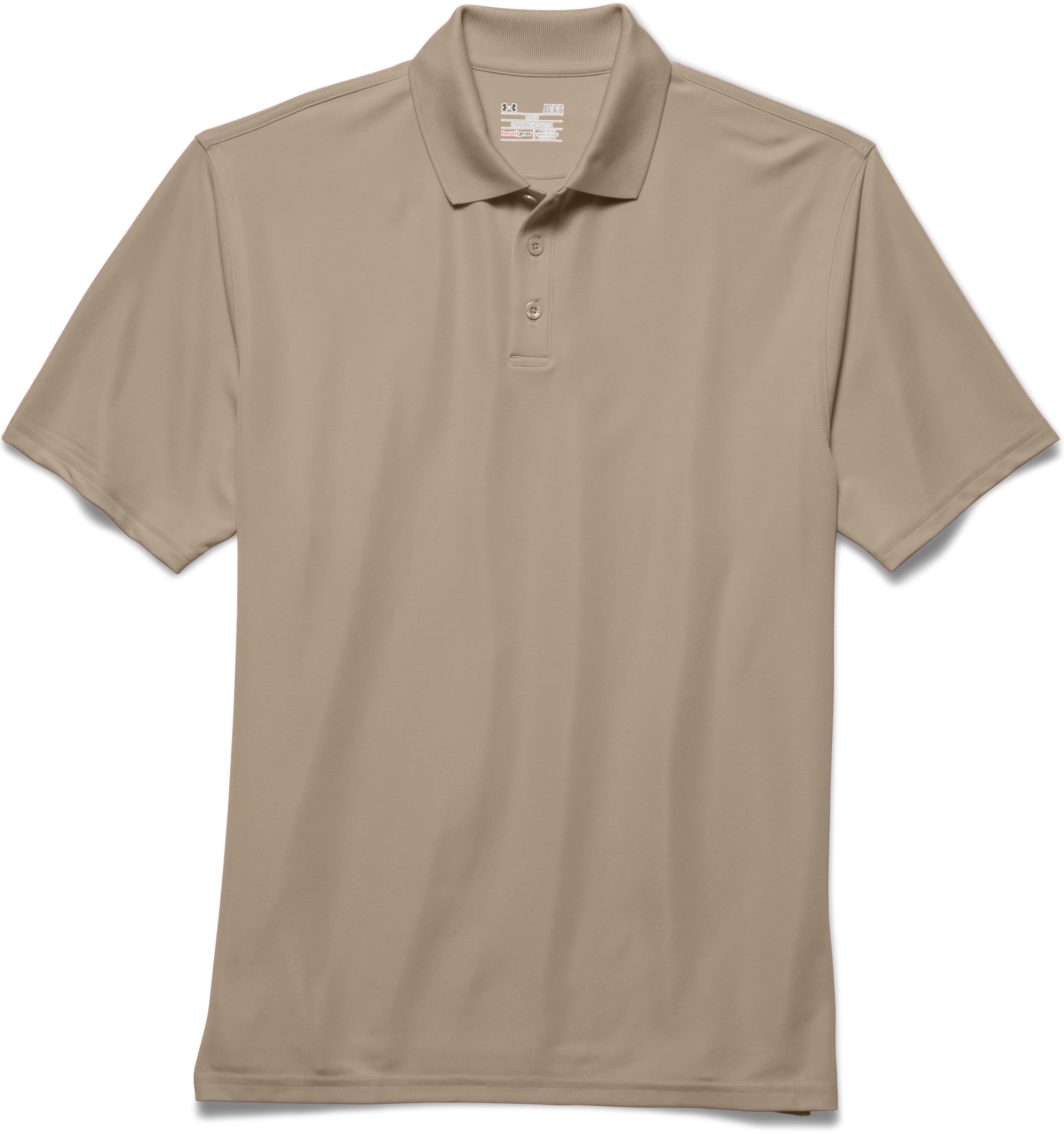 Men's UA Tactical Range Polo, Desert Sand, Laydown