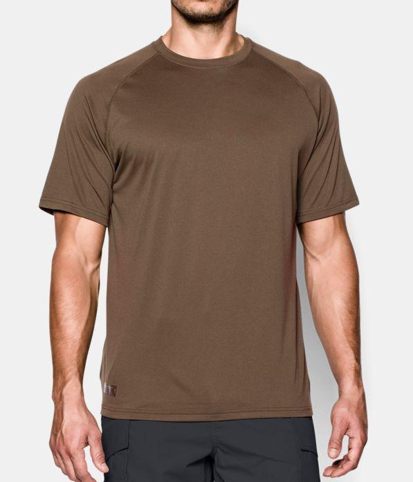 Men s ua tactical tech short sleeve t shirt under armour us for Under armour brown t shirt
