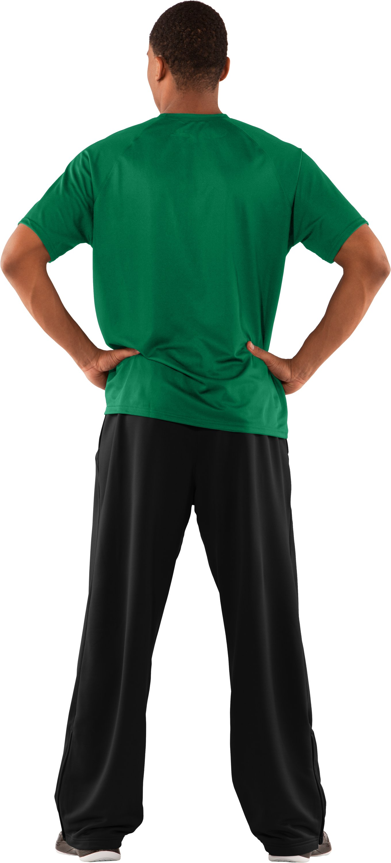 Men's HeatGear® Team Loose Short Sleeve T-Shirt, Team Kelly Green, Back
