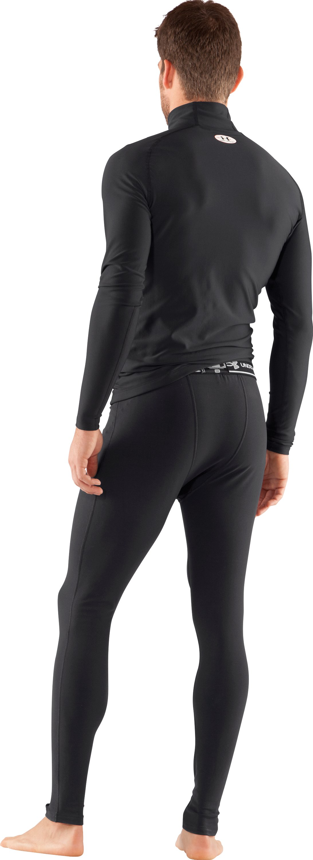 Men's ColdGear® Core Ventilated Leggings, Black , Back