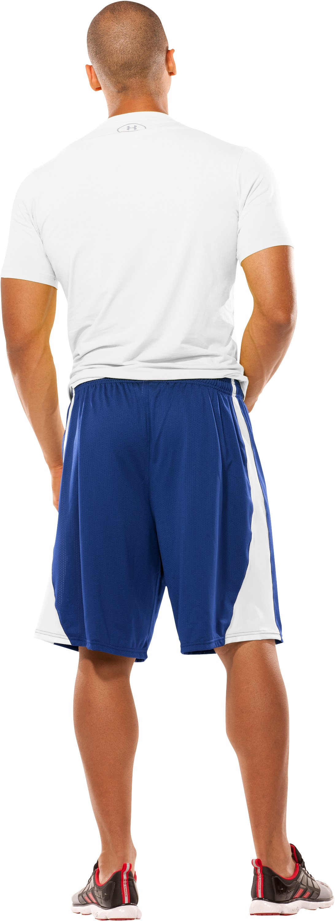 Men's UA Finisher Lacrosse Shorts, Royal, Back