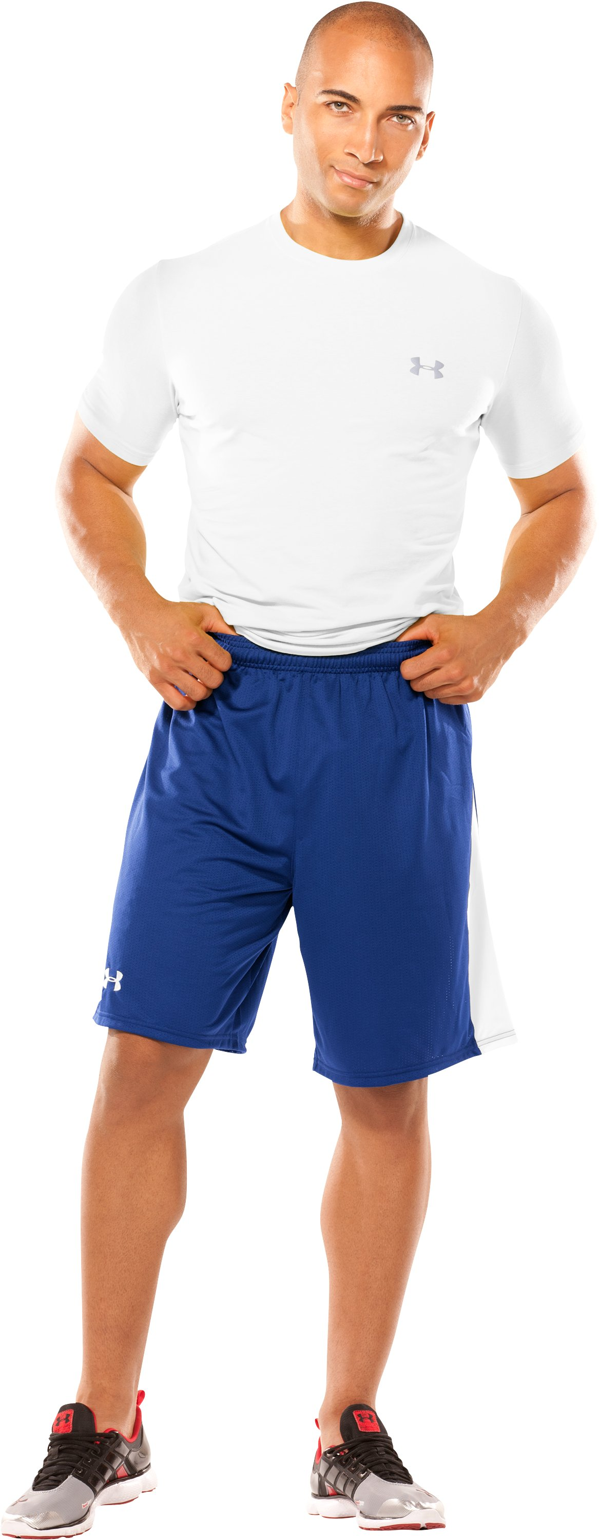 Men's UA Finisher Lacrosse Shorts, Royal, Front
