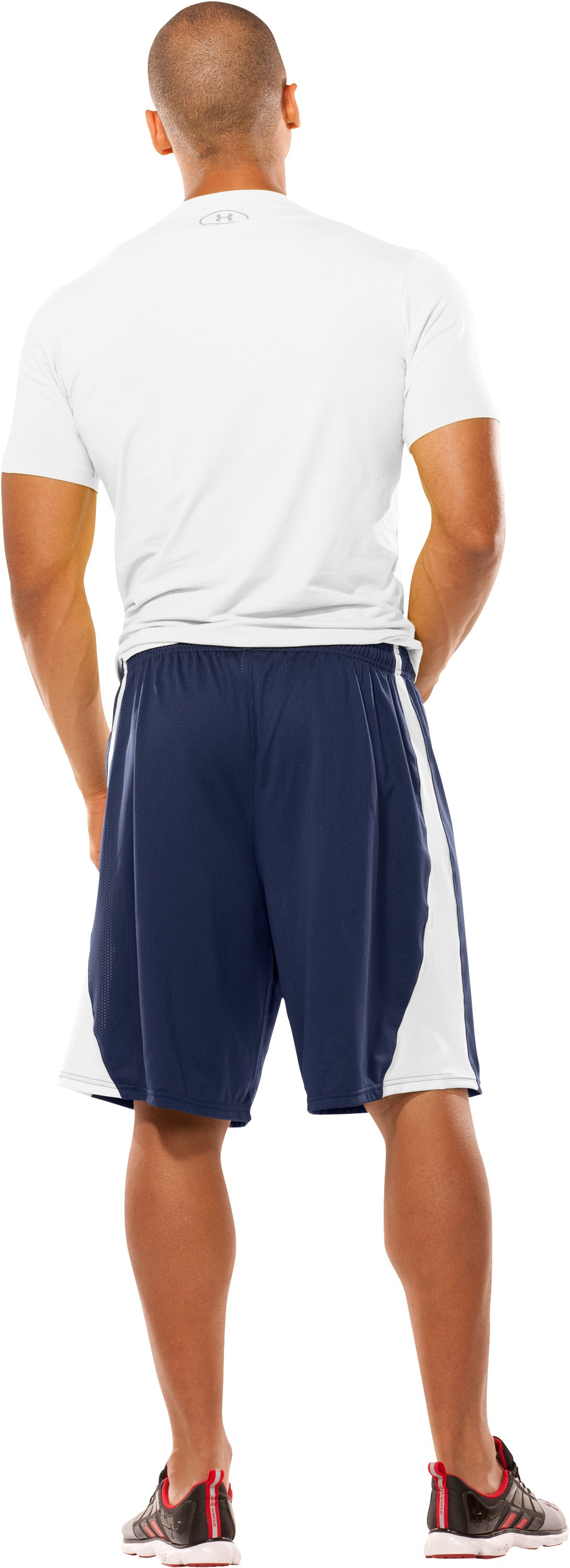 Men's UA Finisher Lacrosse Shorts, Midnight Navy, Back