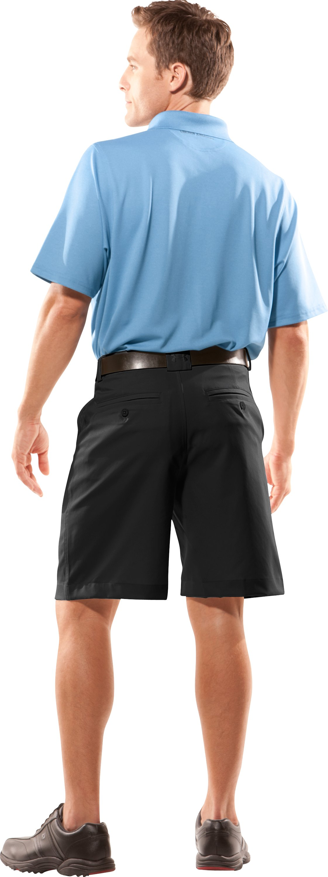 Men's Heritage Golf Shorts, Black , Back