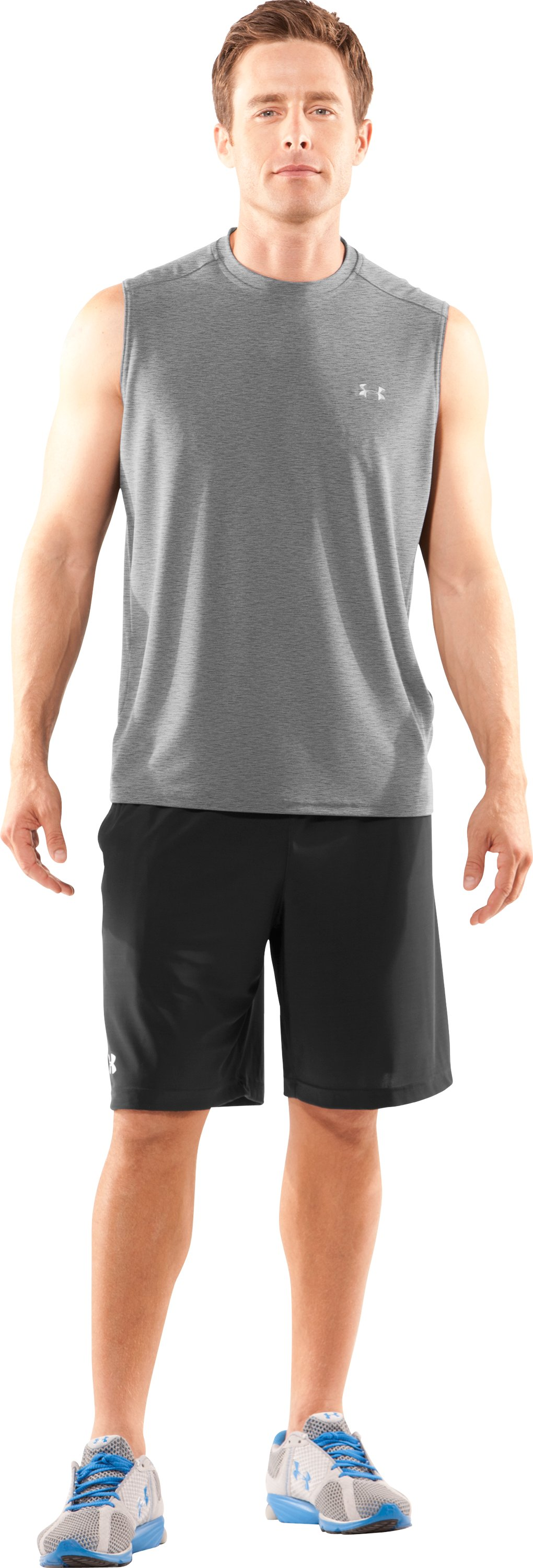 Men's TNP Sleeveless T-Shirt, True Gray Heather, Front
