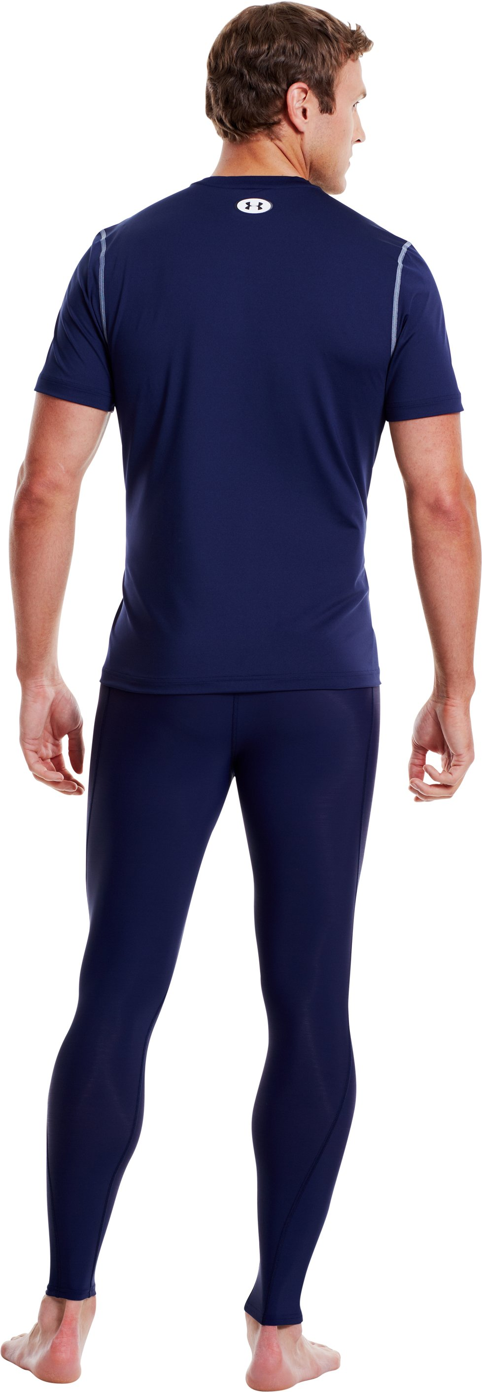 Men's UA HeatGear® Leggings, Midnight Navy, Back