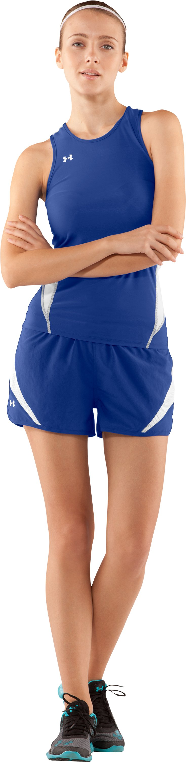 Women's UA Interval Shorts, Royal