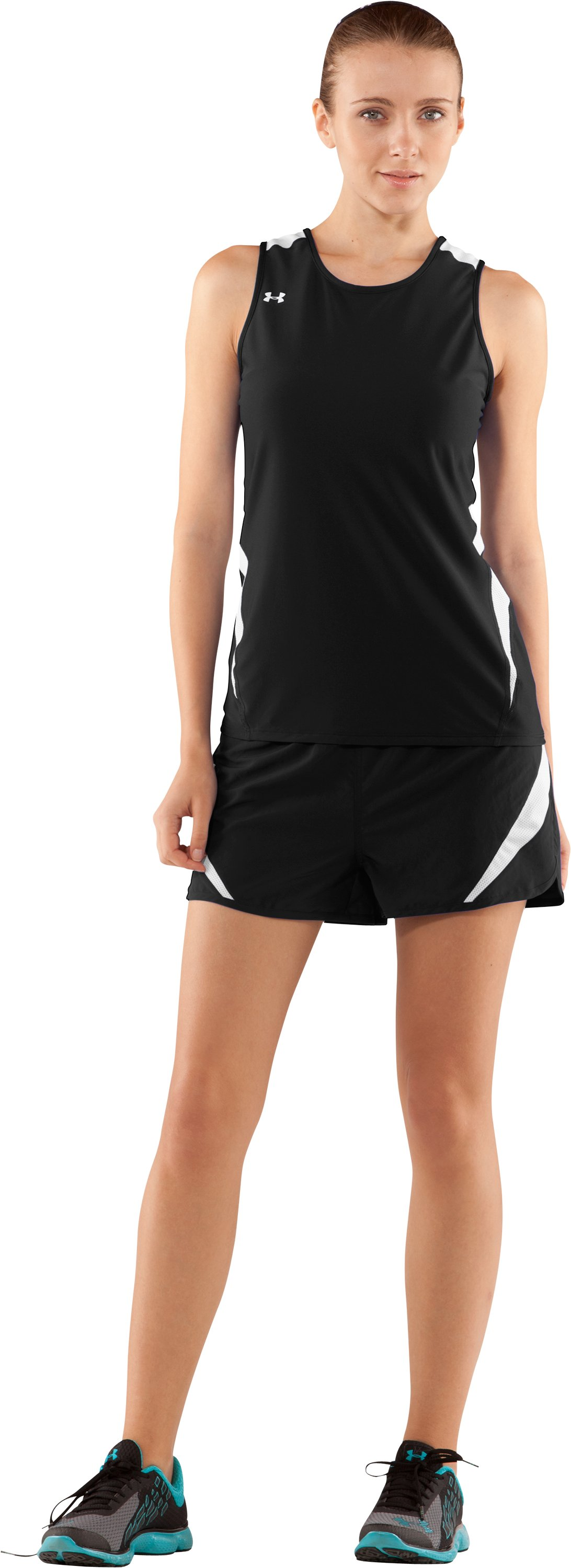 Women's UA Interval Running Singlet, Black , zoomed image