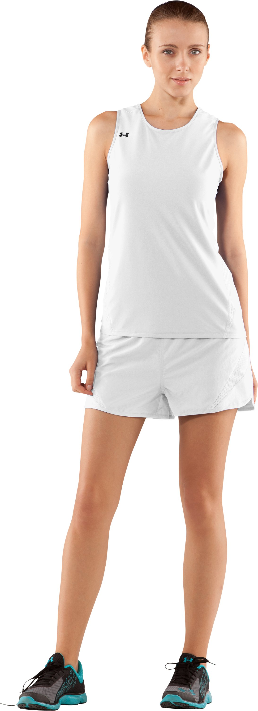 Women's UA Interval Running Singlet, White