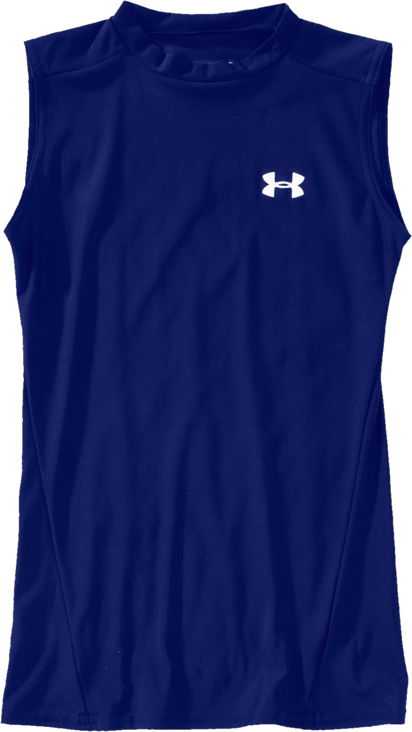 Boys' Sleeveless HeatGear® T-Shirt II, Royal, Laydown