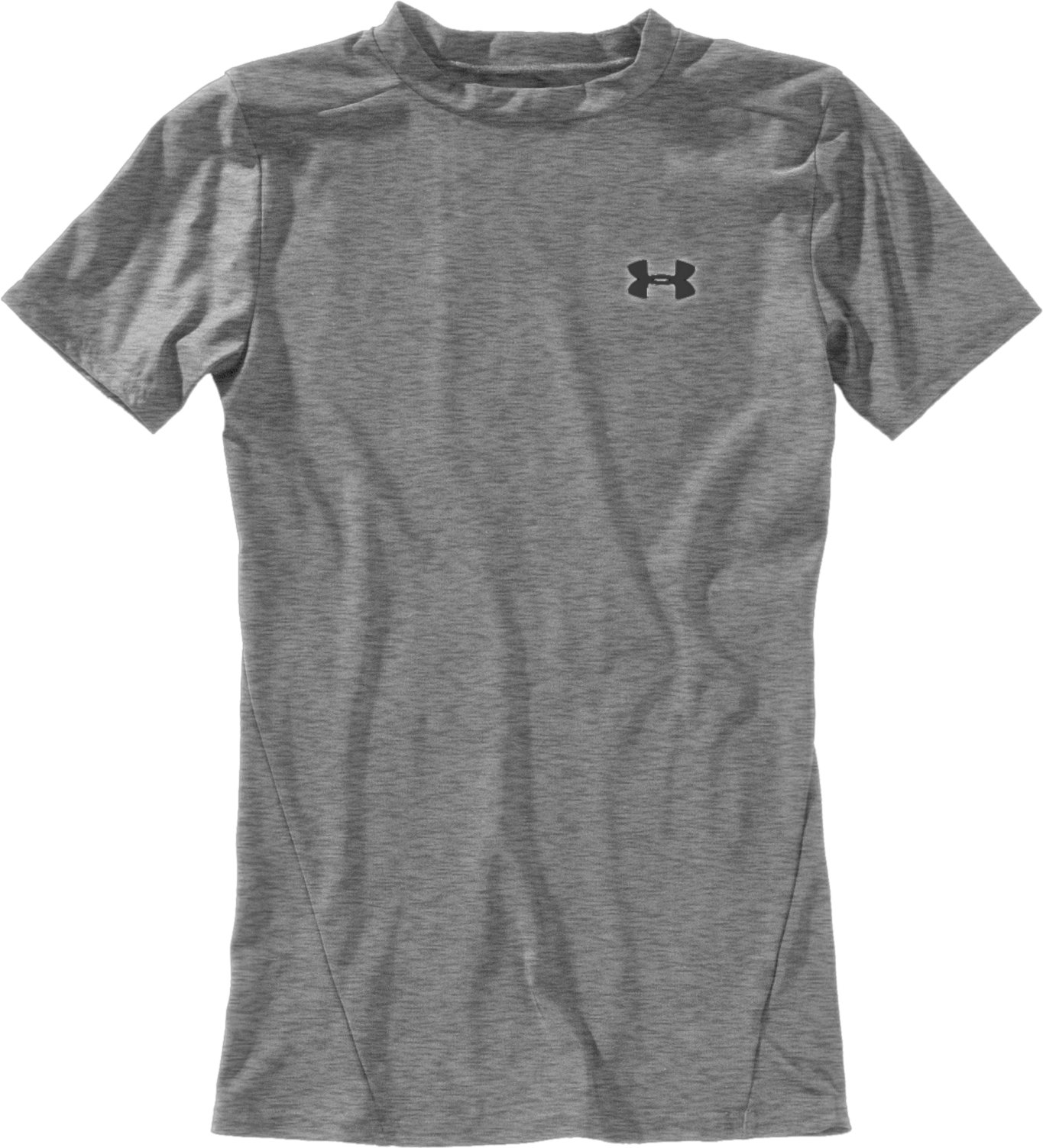 Boys' Short Sleeve HeatGear® T-Shirt II, True Gray Heather, Laydown